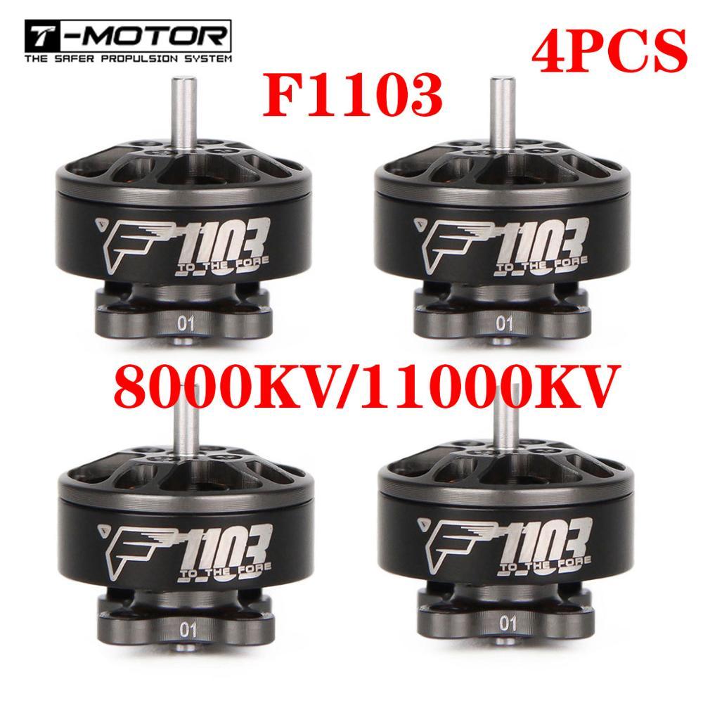 4 Uds T-Motor F1103 11000KV/8000KV sin escobillas Motor FPV Motor 2-3S de Cinewhoop RC Drone FPV Racing BetaFPV