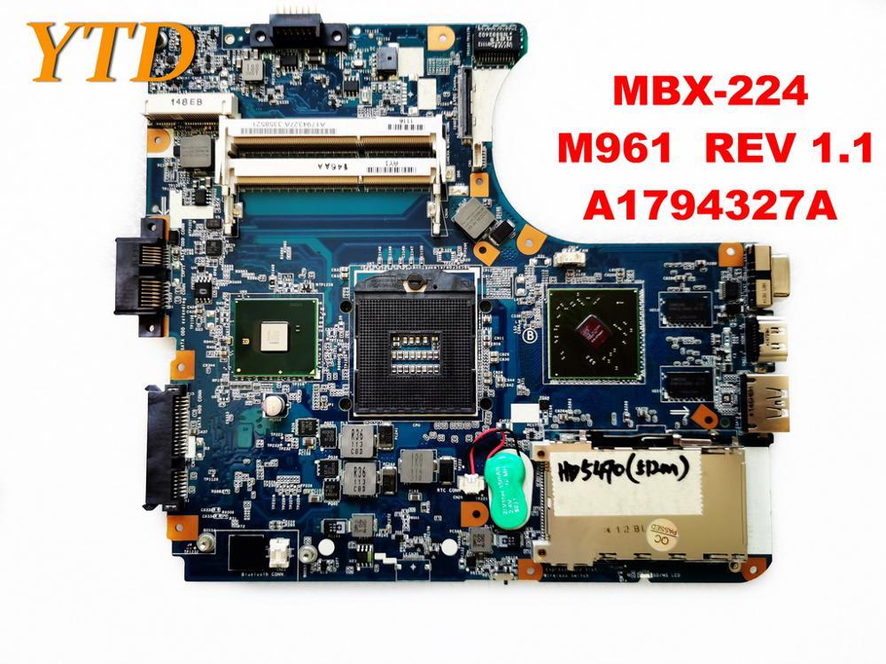 الأصلي لسوني MBX-224 اللوحة المحمول MBX-224 HD5470 512M M961 REV 1.1 A1794327A اختبار جيد شحن مجاني