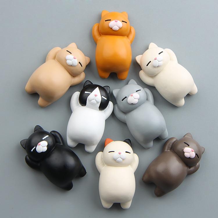 fridge magnet cat stereo resion decoration magnetic sticker creative paste art crafts cute animal  kids like whiteboard educatio
