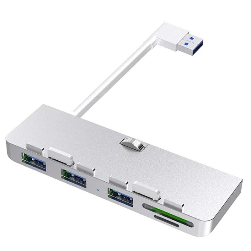 Rocketek-USB 3.0 Hub ، 3 منافذ ، محول مقسم مع قارئ بطاقة SD/TF لـ iMac 21.5 27 PRO Slim ، كمبيوتر أحادي الجسم