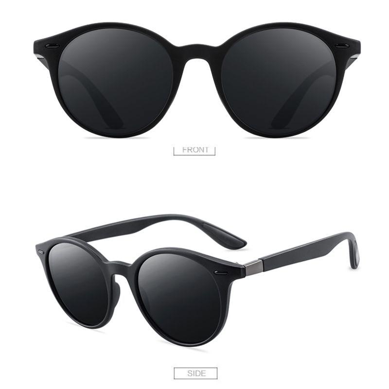 Nuevo diseño ultraligero TR90 Gafas De Sol redondas polarizadas Gafas De Sol...