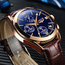 Relogio Masculino LIGE Mens Watches Top Brand Luxury Men's Fashion Business Waterproof Quartz Watch