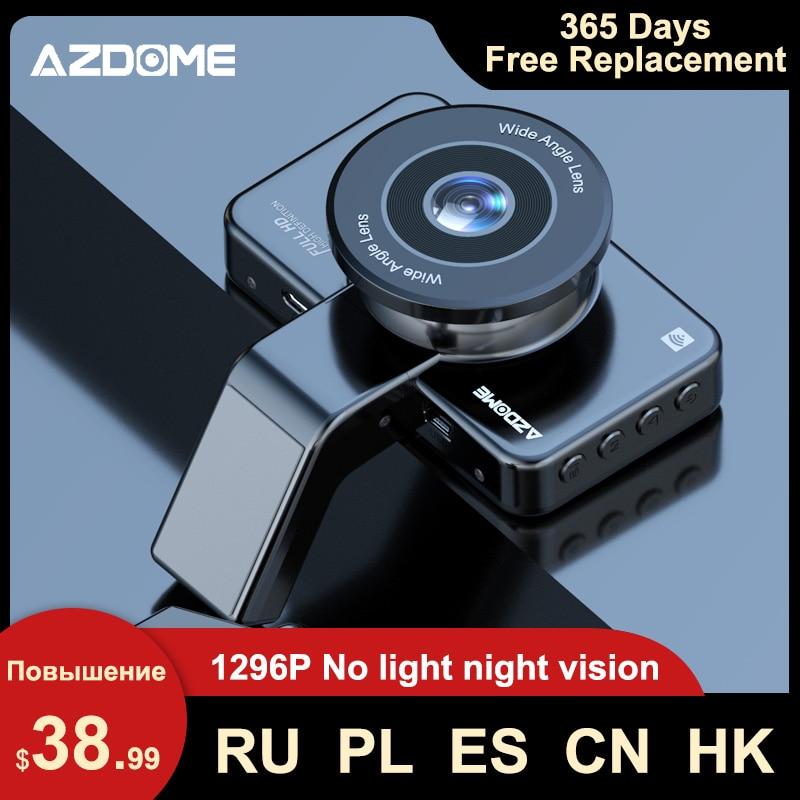 AZDOME M17 Car DVR Video recorder dashcam 1080P HD Night Vision ADAS Dash Camera Car WiFi DVR Dual Lens 24H Parking Monitor cam