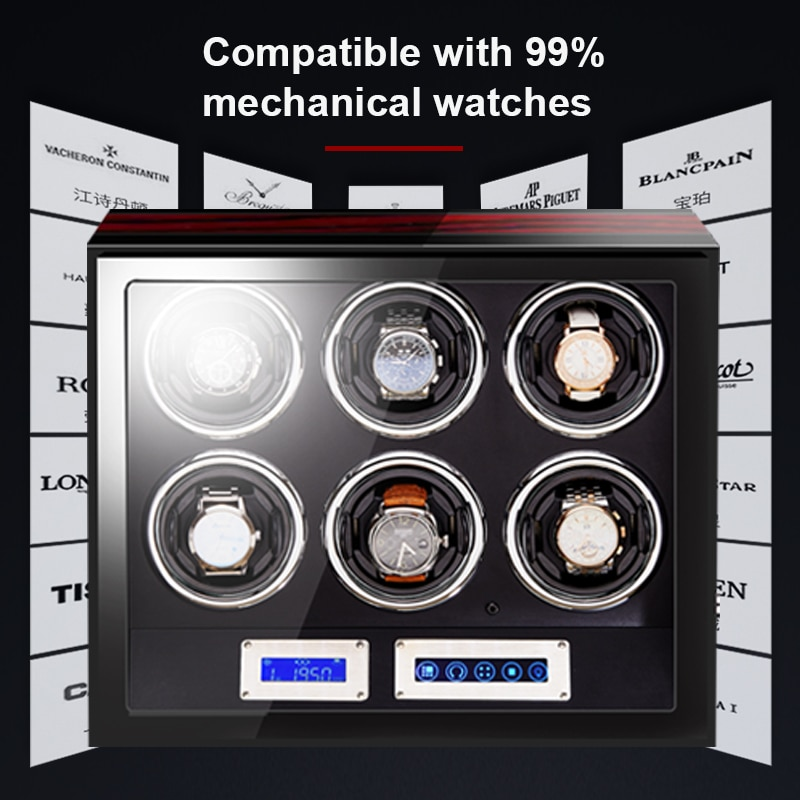 Watch Winder box for Automatic Watches Quite Japanese Motor High Quality Premium Luxury Auto Automatic Rotate 4 slot Watch LED enlarge
