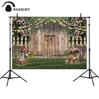 allenjoy garden photography backdrop wood door flowers grass glitter wedding photocall boda outdoor photo studio background