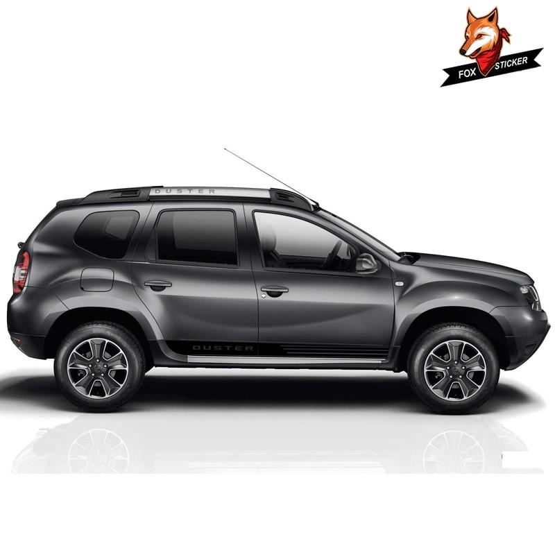 Adhesivos gráficos de vinilo para puerta lateral de coche, accesorios para coche, calcomanías para coche deportivo de estilismo, pegatina de vinilo para Dacia protector antipolvo para renault 2017-2019
