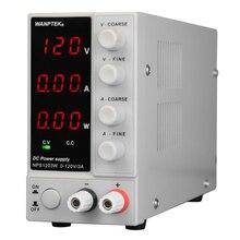WANPTEK Schalt DCPower NPS1203W 0-120V 0-3A Versorgung LED 3-ziffern Display Hohe Präzision Mini Netzteil AC115V/230V 50/60Hz