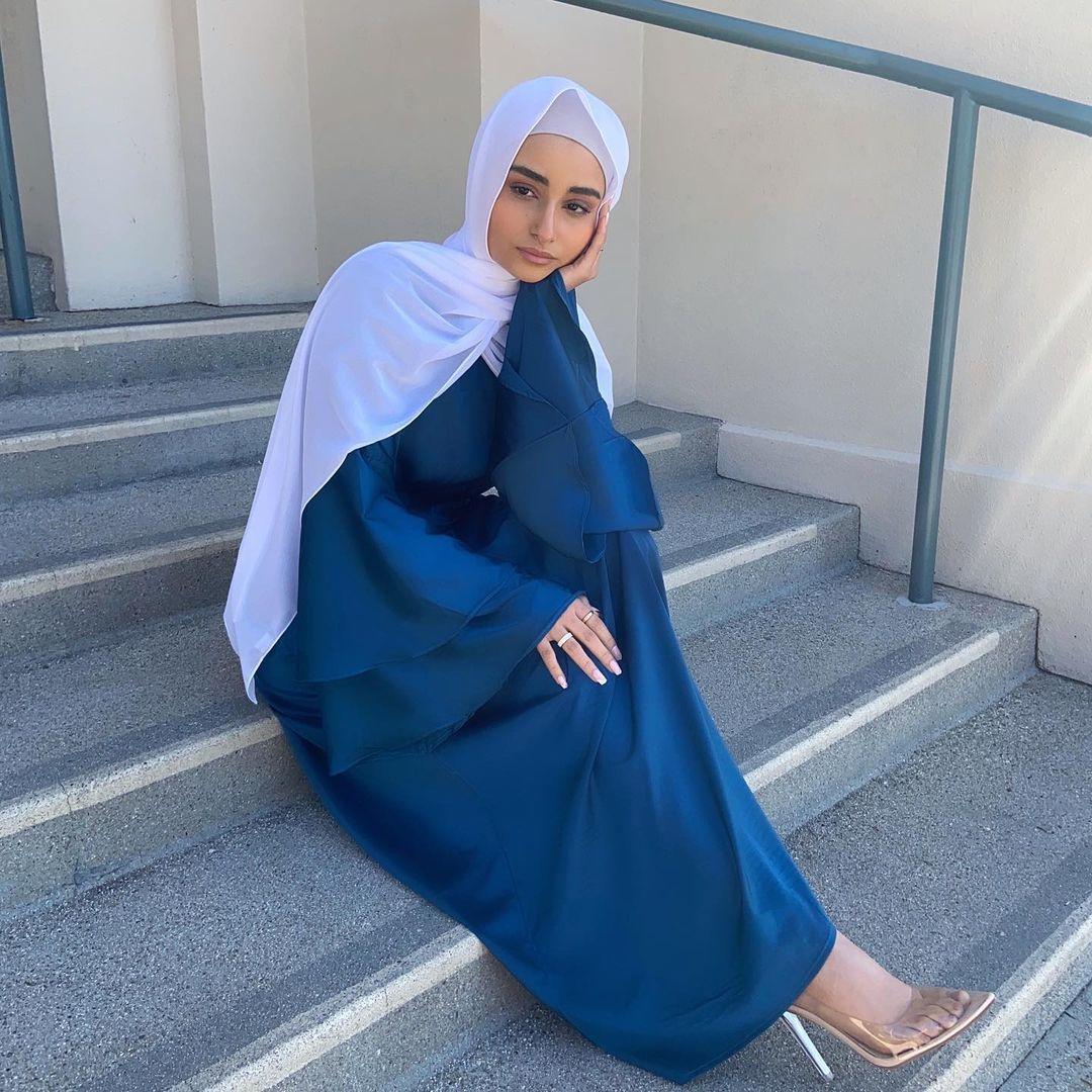 رمضان مسلم موضة ستان ماكسي فساتين للنساء الحجاب فستان عيد عباية دبي تركيا عبايات الإسلام قفطان رداء طويل فام