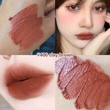 Tomato Matte Velvet Glossy Lip Gloss Waterproof Lipstick Lip Balm Sexy Red Lip Tint 6 Colors Women F