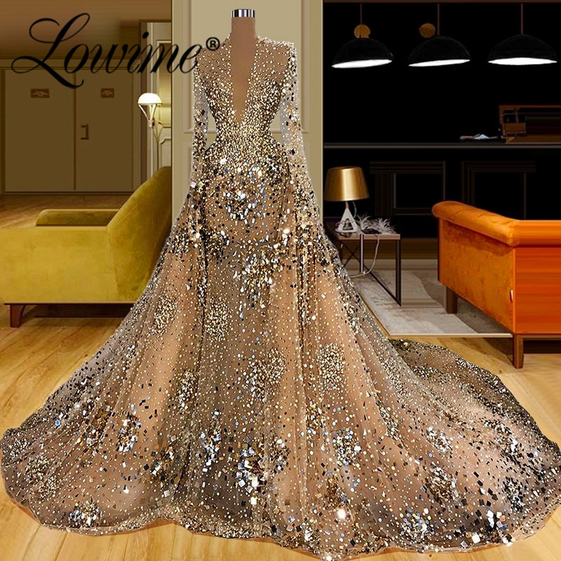 Ilusão dubai vestidos de noite das mulheres 2021 mangas compridas robe de soirée vestidos de festa muçulmanos abiti da cerimonia sereia vestido de baile