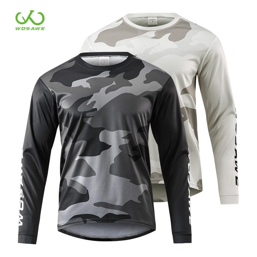 WOSAWE Джерси для мотокросса, Горные Джерси, Велоспорт, горный велосипед, майка, Мужская Джерси, быстросохнущая длинная рубашка для горного вел...
