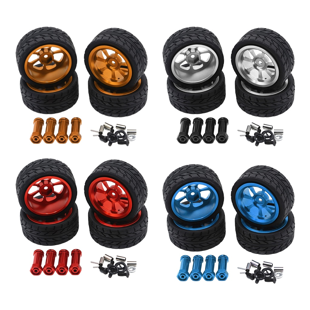 Фото - 4Pcs RC Car Upgrade Parts 12mm Hex Tires & Wheel for 1/14 Wltoys 144001 A959 Remote Contol Vehicle 4pcs 1 64 modified wheels rubber tires with axles and end cap upgrade parts for rc model car