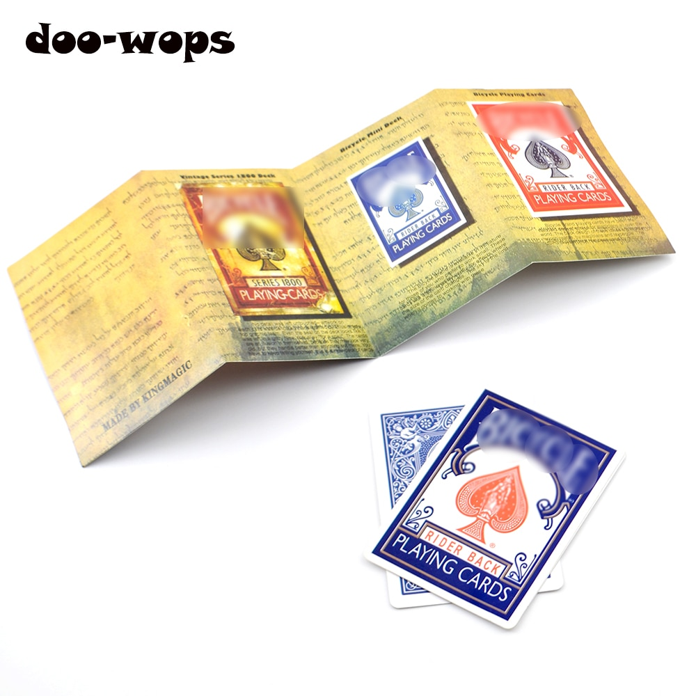 1set 3D Advertising Magic Tricks Card Deck Appearing Magia Magician Close Up Gimmick Props Mentalism Comedy Classic toy недорого