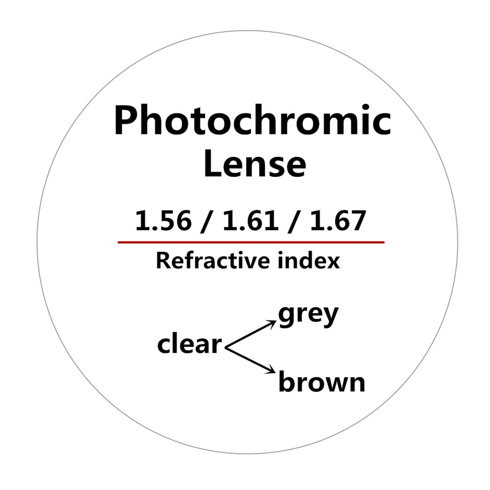 1.56/1.61/1.67Refractive index anti-radiation outdoor photochromic optical spectacle lenses with progressive prescription lenses