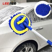 Щетка LEEPEE для мытья автомобиля, швабра с длинной ручкой, телескопическая, синель, чистящая щетка