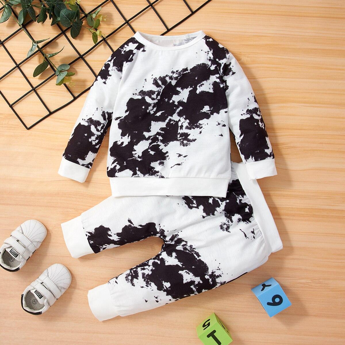 Unisex Baby Clothes Long Sleeve Top and Paints 2 Pcs Set Newbron Clothing Sweatshirt Suit Infant Sof