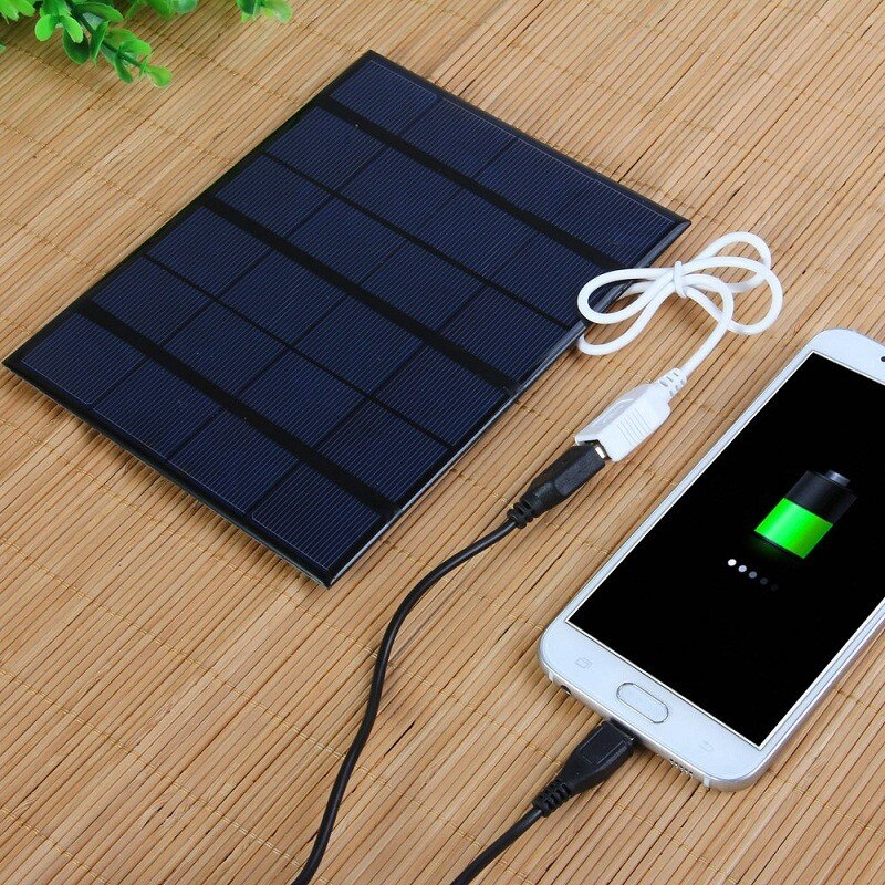 3.5W 6V Polycrystalline Solar Panel Charger For Cellphone Small Fans Power Banks Mobile Phone Batter