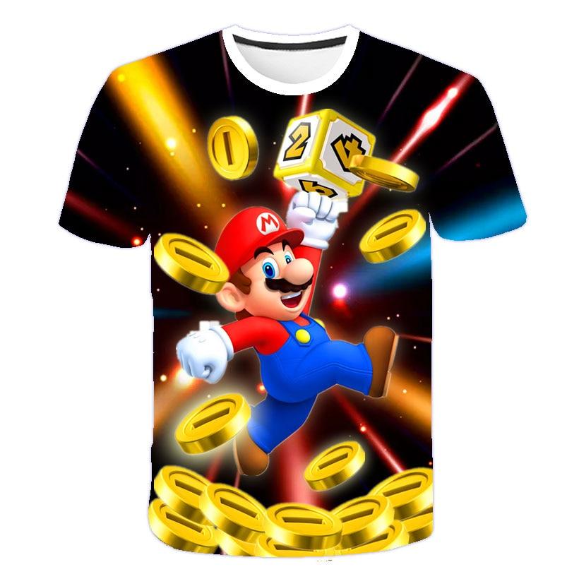 Summer fashion short-sleeved T-shirt O-neck 3D printing pattern cartoon children's clothing casual boy T-shirt street clothing 4