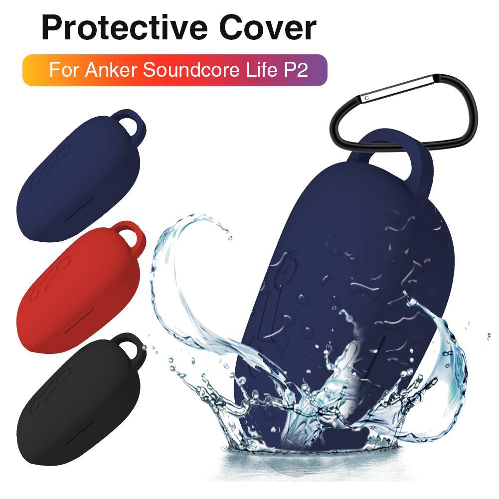 Funda protectora de silicona para Anker Soundcore Life P2