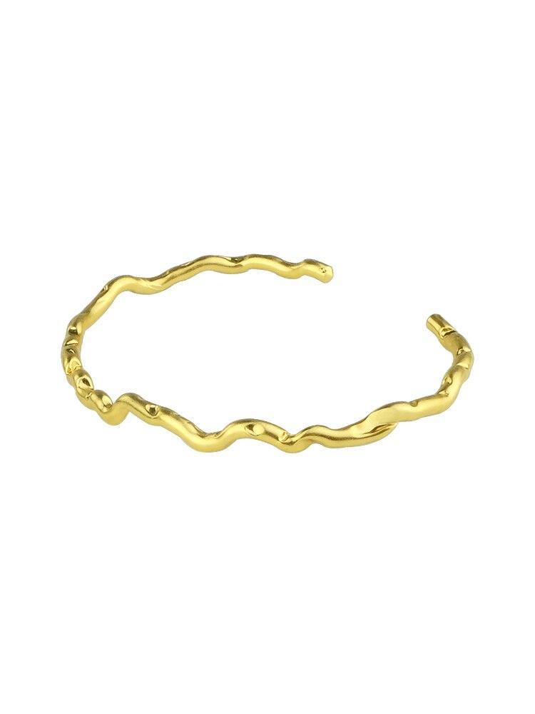 Ghidbk oco design exclusivo pulseiras de corrente para as mulheres declaração aberto pulseira ins estilo rua bangle moda jóias