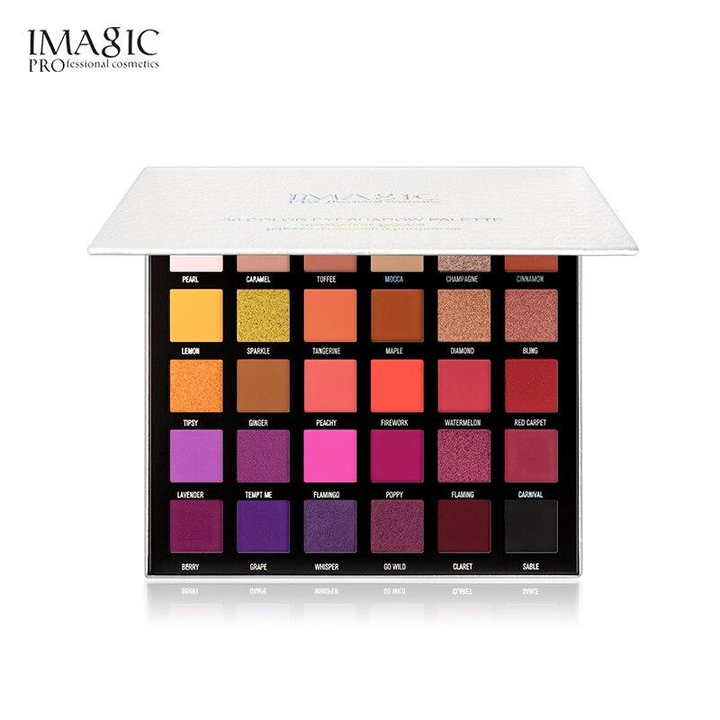 IMAGIC-paleta de sombra de ojos, 30 colores, holográfico brillante, mate, pigmento, paleta de sombras para ojos, paleta de maquillaje de diamante metálico