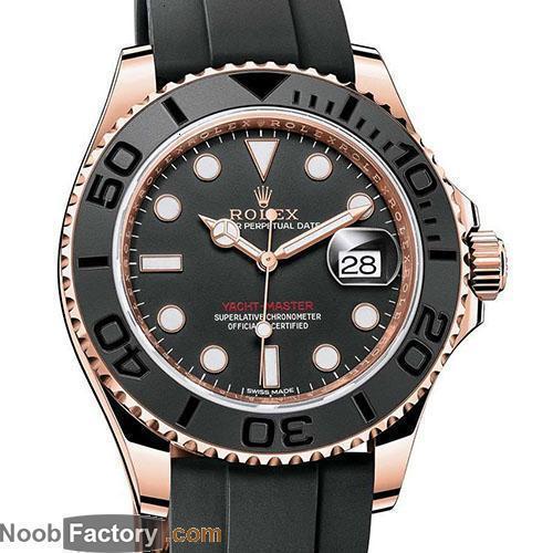 Rolex- r 2021 NOOB Black Ceramic Bezel Watches Rose gold Rubber Automatic Mechanical watch 116655 x