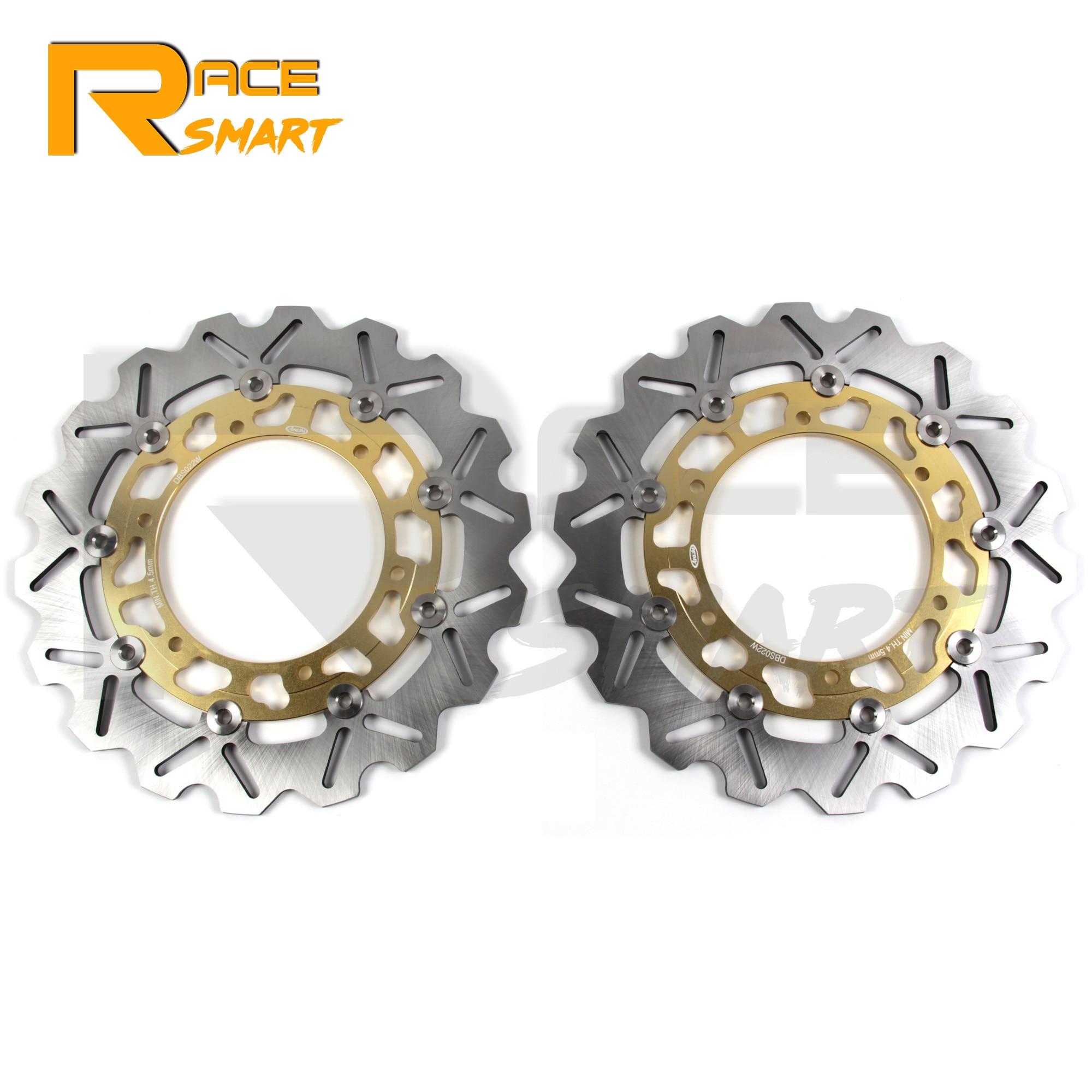 Disco de freno delantero CNC para motocicleta, Rotor de freno de acero inoxidable para YAMAHA XJR 1300 1999-2017 XJR1300 2010 2011 2012 2013 2014