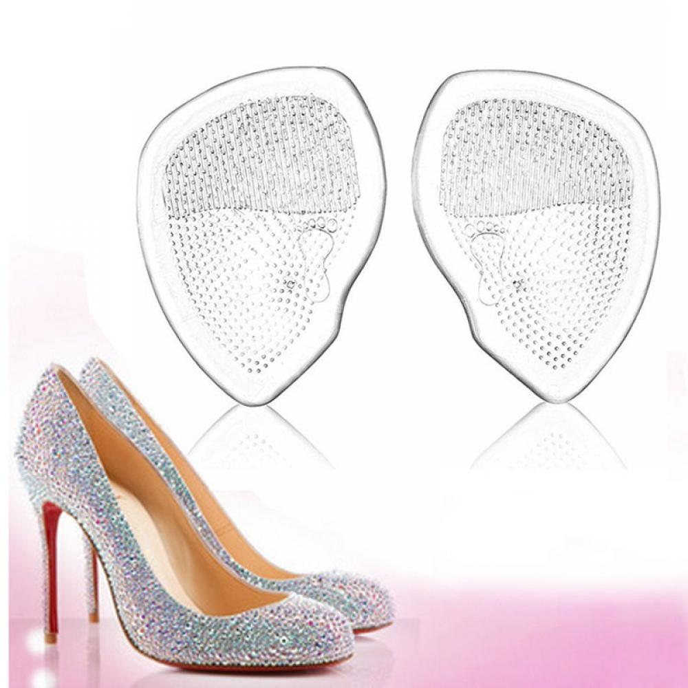 2 unids/par Gel antepié silicona almohadilla para zapatos plantillas de tacón alto cojín elástico cómodo Cuidado del pie antideslizante alivio del dolor