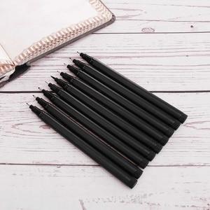 9Pcs/Lot Drawing Pen Black Fine Line Pen Painting Sketch Fineliner Art Markers School Office Student Sketching Manga Drawing Pen