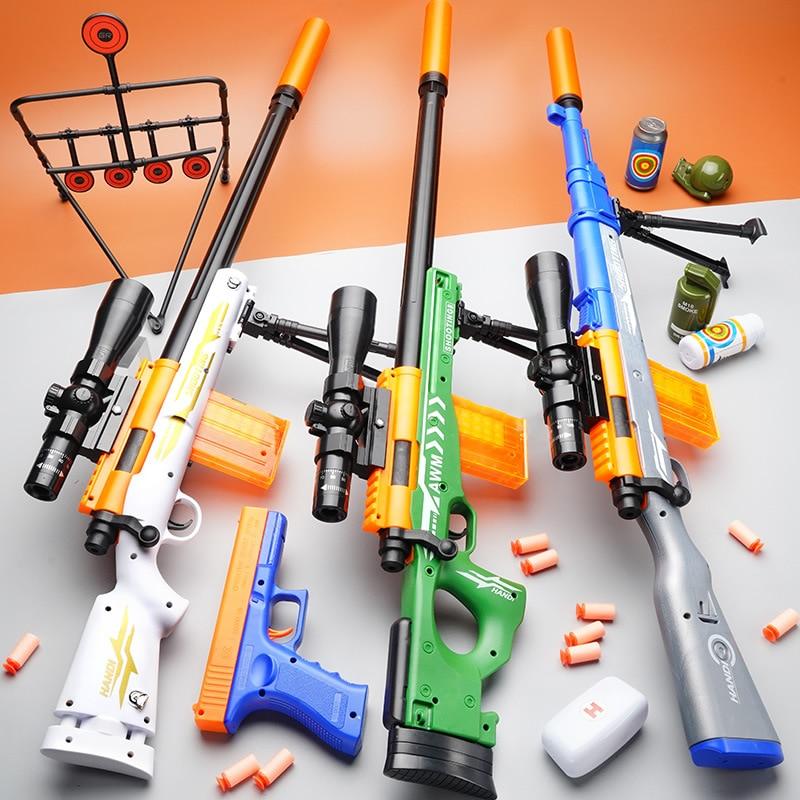 AWM-بندقية قنص للأولاد ، بندقية الكرة اللينة ، مفككة للأطفال ، الأولاد ، Airsoft