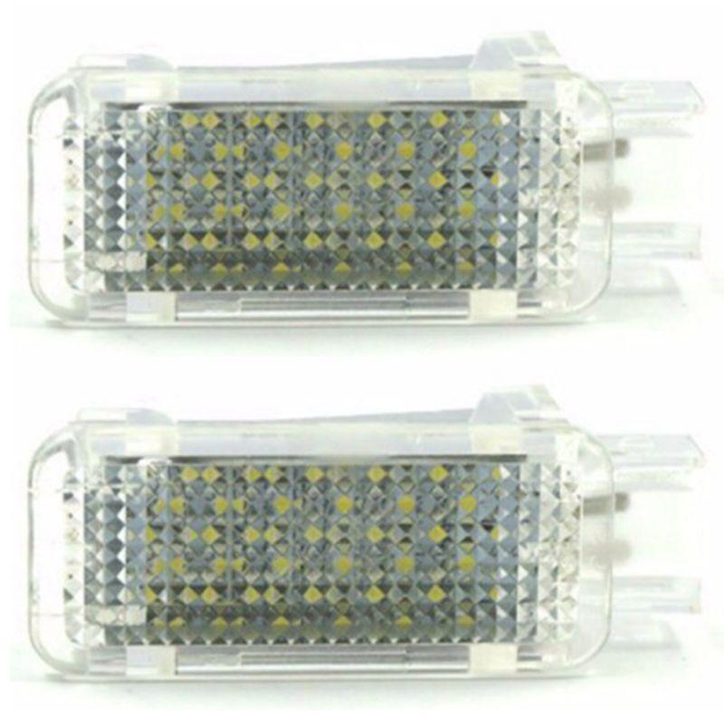 Luz Led para proyector de puerta de cortesía de coche para un nido de pie u d i A3/A4/A6/Vw/Skoda luz de baja reflexión lámpara blanca de 6500K