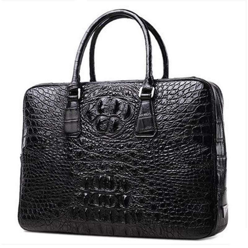 pugete new crocodile men handbags  Real crocodile leather men crocodile bag Business male briefcase
