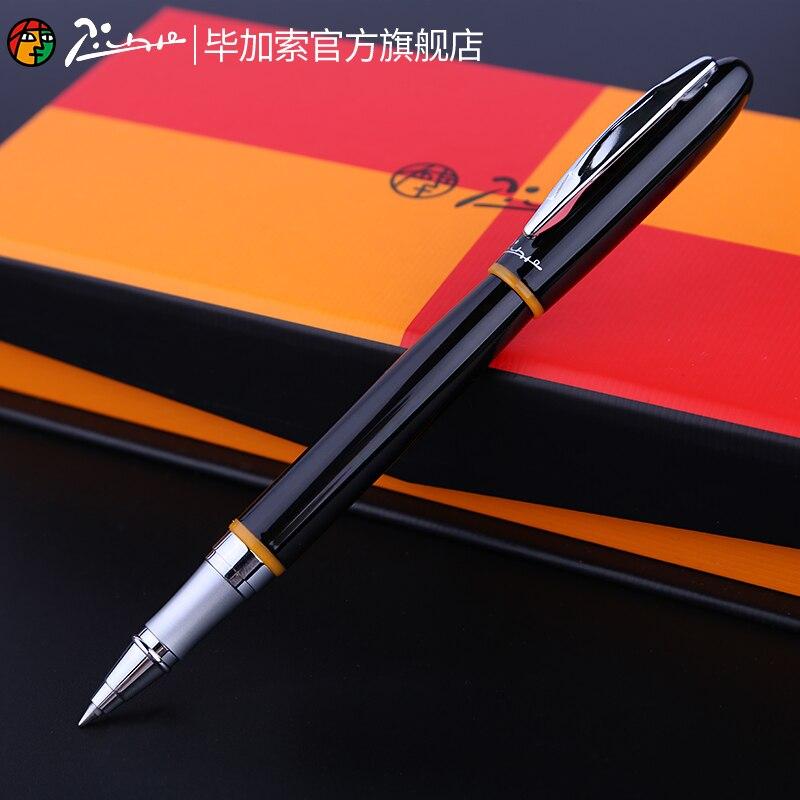Гладкая черно-красная Шариковая ручка Pimio 907 с серебряным зажимом, высококачественные металлические шариковые ручки, подарочная ручка