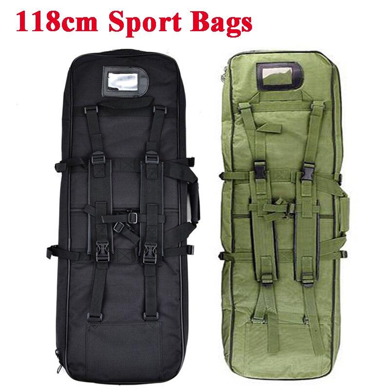 Mochila militar de 118cm Airsoft, bolsa de arma cuadrada para caza, bolsa de transporte, funda protectora para Rifle, mochila para caza al aire libre, bolsos de hombro