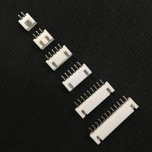 500/1000/2000 Uds XH2.5 conector de pines 2P 3P 4P 5, P 6P 7P 8P 9P 10P 11P 12P 2,5mm aguja recta XH para PCB