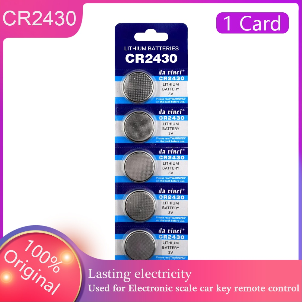 3V CR2430 Button Battery 5PCS/LOT New BR2430 DL2430 KL2430 Lithium Cell Coin CR 2430 For  Computer Calculator Control Watch Cell