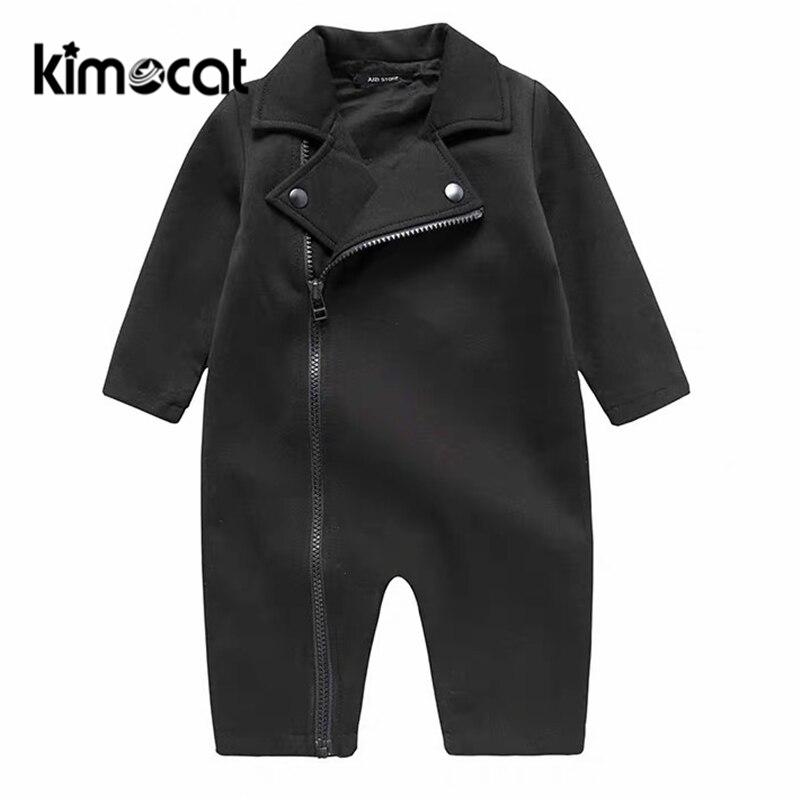 Kimocat-ملابس الأولاد حديثي الولادة ، بدلة رجالية بأكمام طويلة ، ياقة ، بدلة بغطاء للرأس ، بذلة ، بدلة رومبير للأطفال