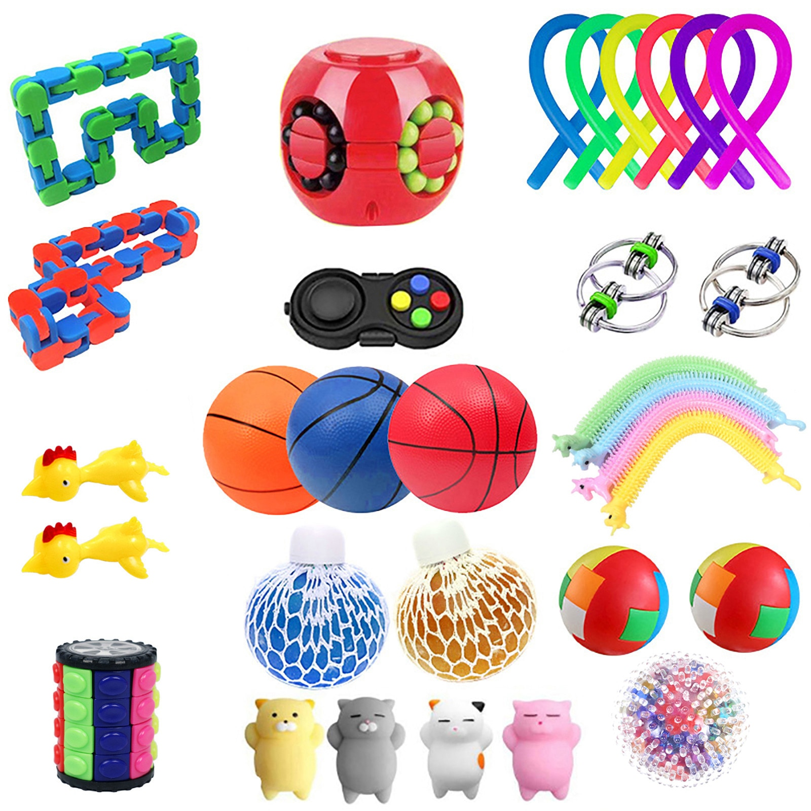 Fidget Sensory Toy Pack Stress Relief Toys Autism Special Needs Anxiety Relief Stress Pops Bubble Fidget Toys For Kids Adults enlarge