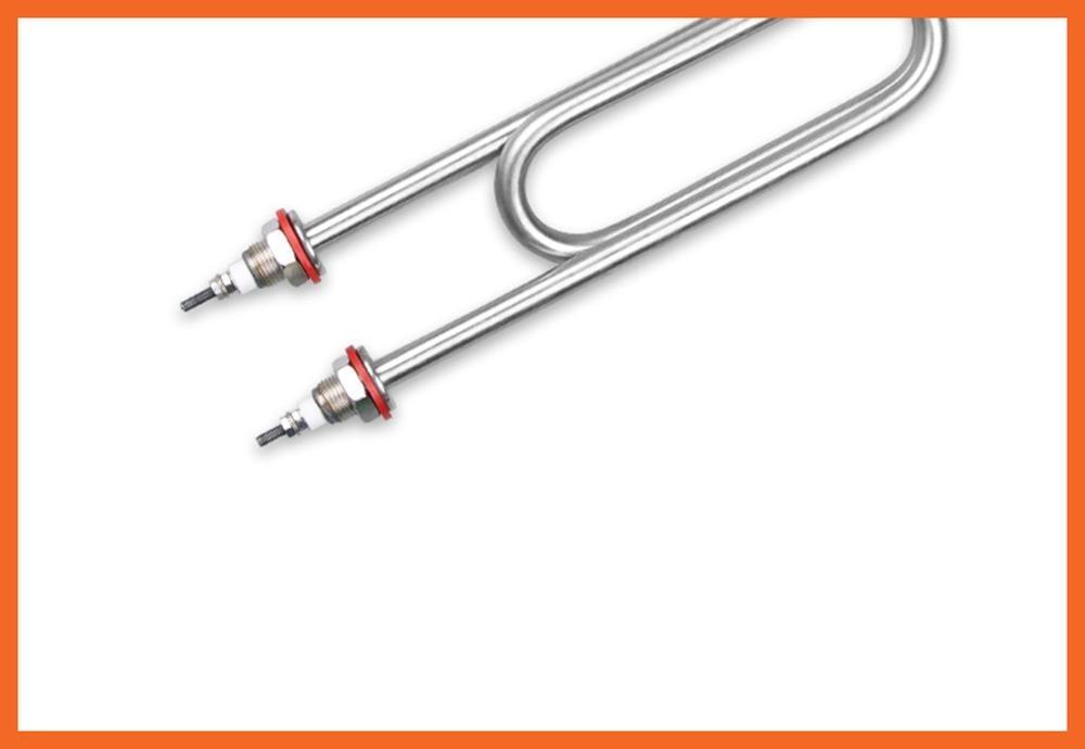 Tubo calefactor eléctrico de 220 V/380 V del vaporizador de arroz tubo calefactor de acero inoxidable cobre longitud del vaporizador de arroz = 300mm