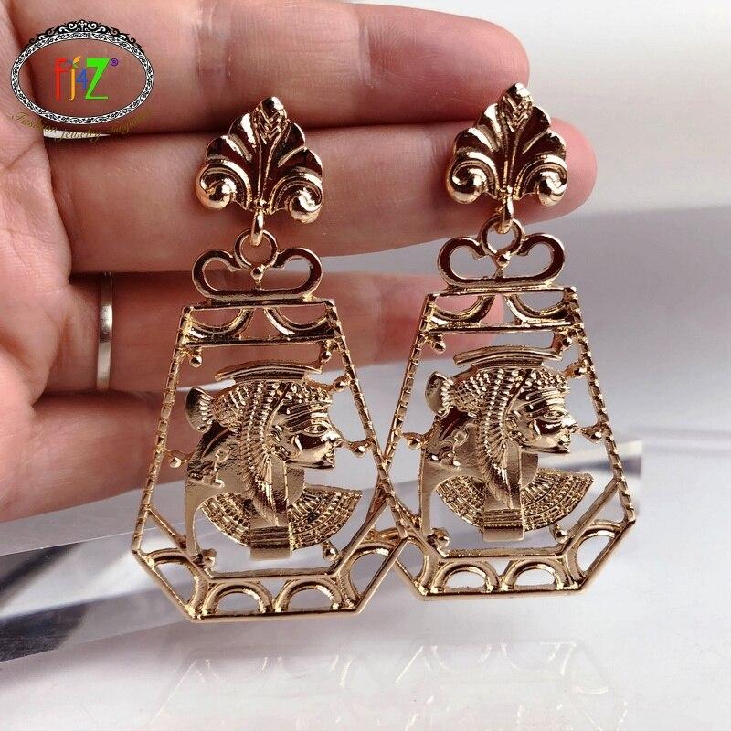 F.J4Z New Women's Statement Earrings Trendy Vintage Bohemian Alloy Earrings Party Jewelry Gifts accessories dropship