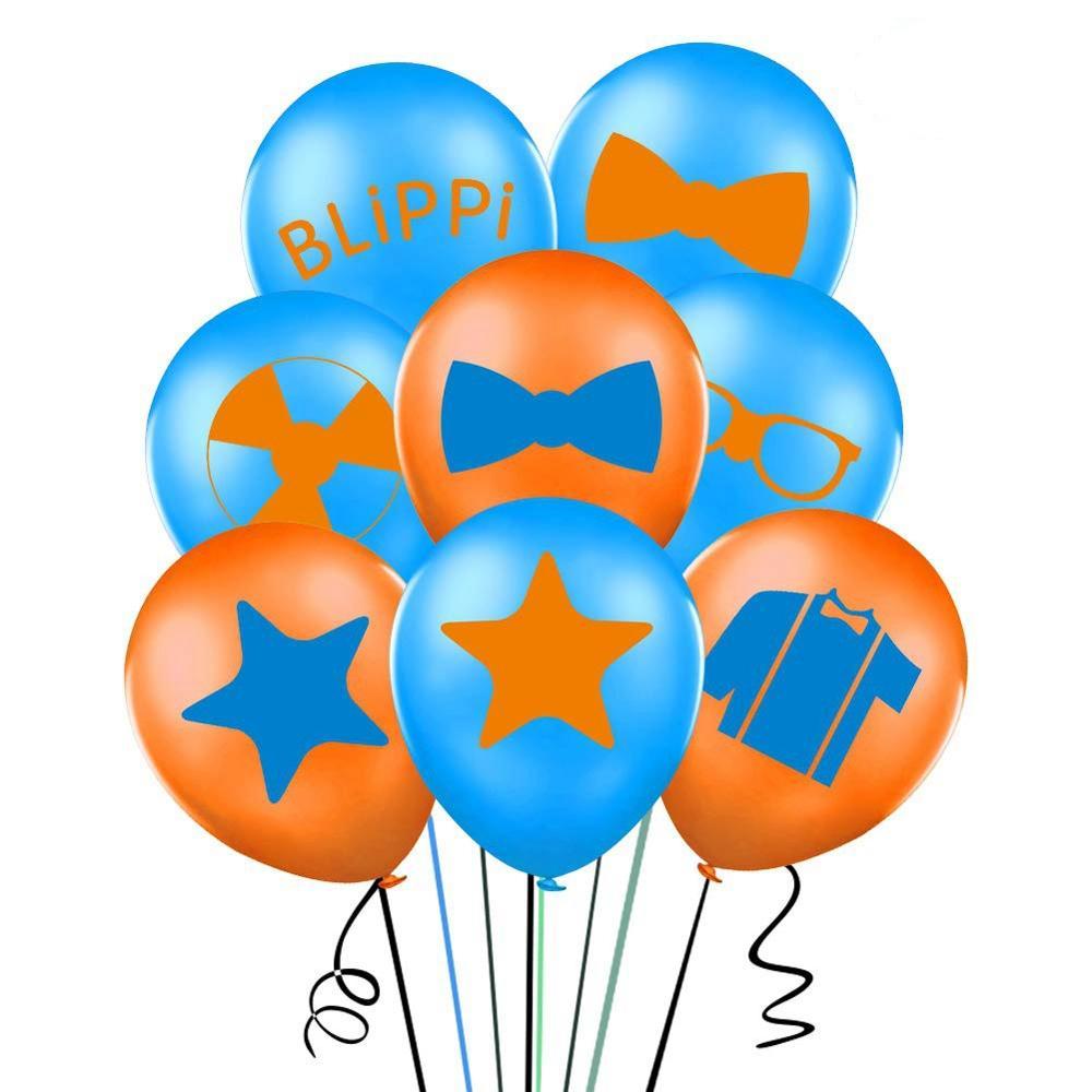 12 pçs balões blippi chuveiro do bebê 12 polegada látex balão feliz aniversário festa suprimentos decorações globos brinquedos para crianças