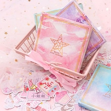 200PCS Cute Blue Whale Unicorn Stickers Paper Sticker Kawaii Pink Cartoon Decor Stationery For Kids Scrapbooking Diary Supplies