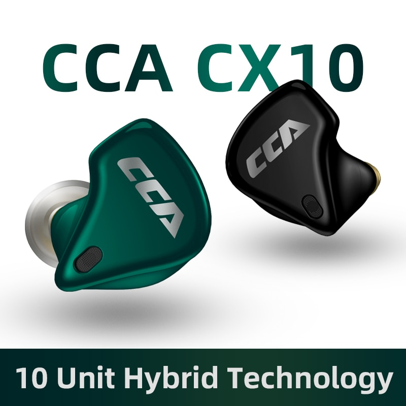CCA CX10 8BA + 2DD Hybrid Driver TWS 5,0 auriculares inalámbricos Bluetooth auriculares para juegos auriculares inalámbricos Bass