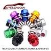 SPEEDWOW M12 * 1.25 M12 * 1.5 M12 * 1.75 M14.1.25 M14 * 1.5 olej magnetyczny nakrętka korek wlewu oleju nakrętka magnetyczna olej magnetyczny korek wlewu oleju nakrętka dla BMW