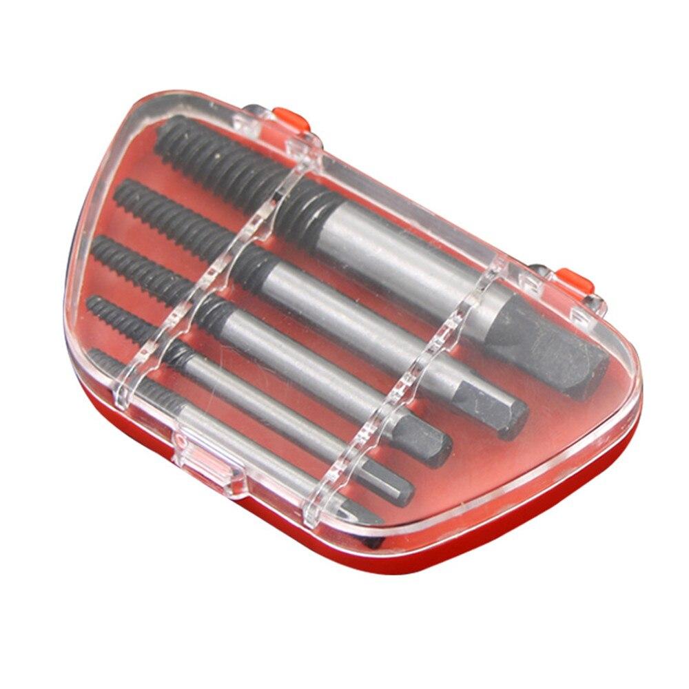 5 шт./компл. стальное сломанное спиральное поврежденное винтовое сверло для извлечения, набор направляющих для удаления сломанных болтов