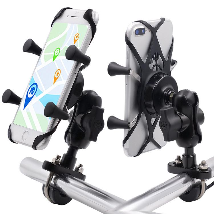 دراجة نارية حامل هاتف المحمول تعديل دراجة كهربائية دراجة اكسسوارات سبائك الألومنيوم قاعدة قوس