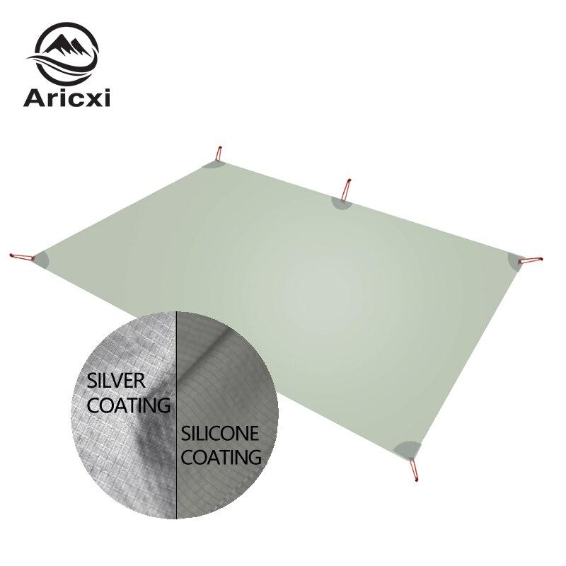 2020 Aricxi Ultralight  Camping Mat with Sun protection layer Tarp Lightweight Multifunction MINI Sun Shelter