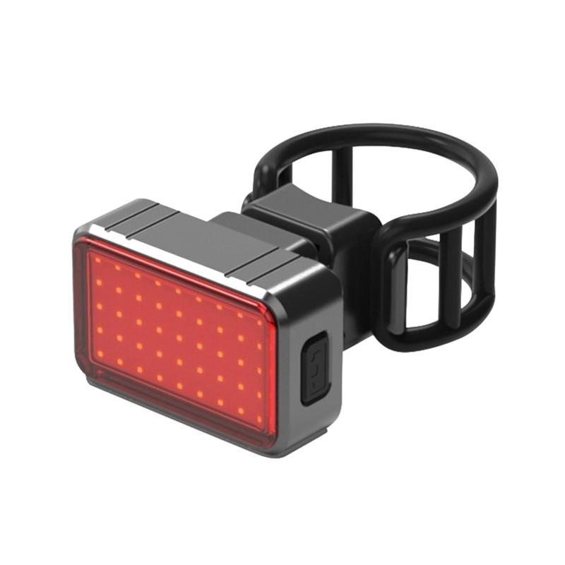 Luz de bicicleta carga USB Luz Led de bicicleta Flash trasero luces de bicicleta tija de sillín 100LM impermeable USB COB + 28 LED Luz de montar