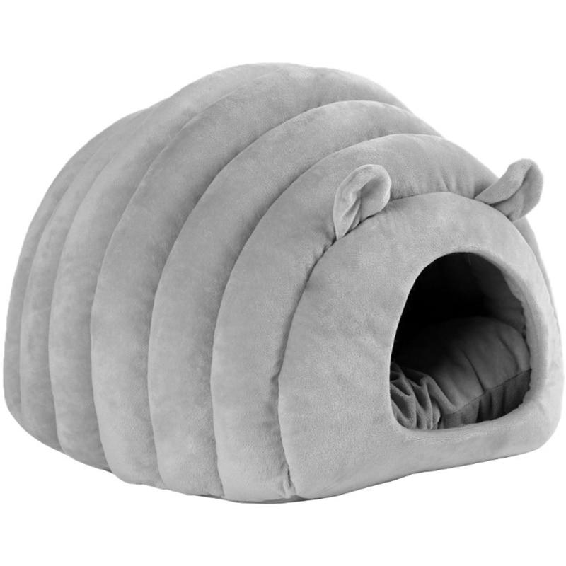 Gato caliente Casa de perro cama oruga caseta hámster de algodón suave cama cachorro cueva cama caliente para dormir invierno cerrado nido de Mascota