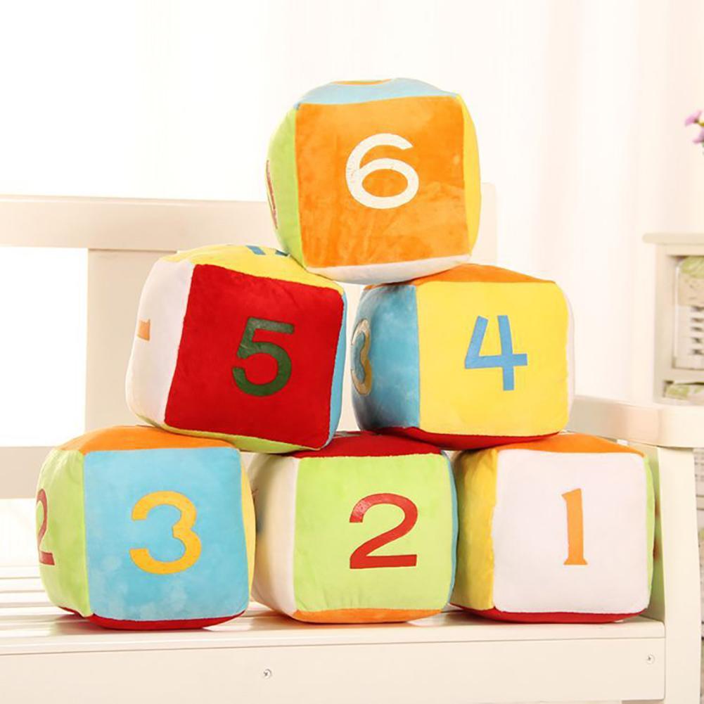 Juego de dados creativo de 4 pulgadas muñeca de peluche de felpa de juguete de tiro de almohada cerebro juego de dados de juguete en venta nuevo